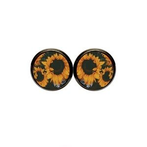 Sunflowers Earrings - Fall, Sunflower